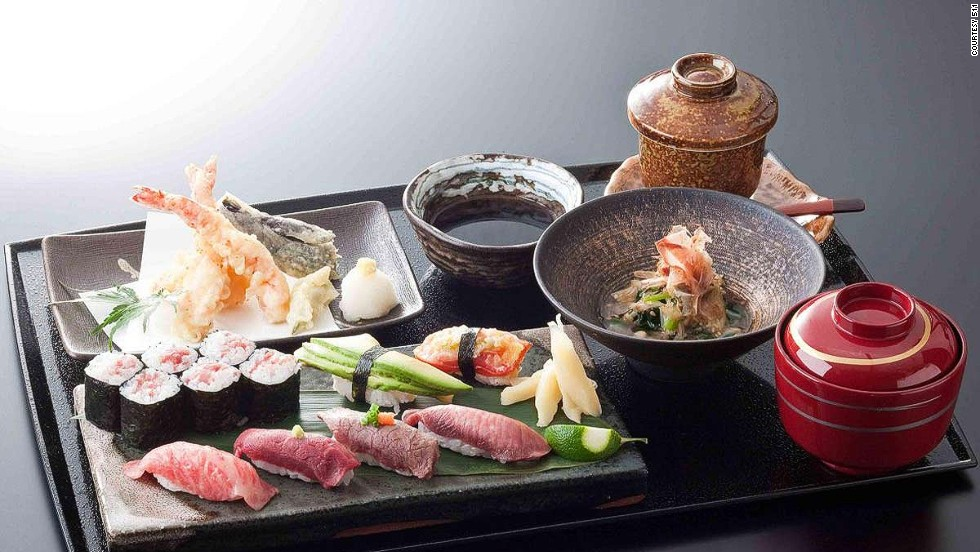 "It's impossible to eat badly in Japan. Especially if you're hitting up places like  <a href=""http://travel.cnn.com/tokyo/eat/cut-above-rest-japans-legendary-kobe-beef-282272"">511 Kobe Beef Kaiseki</a>, which serves up meals like this mouthwatering tray of excellence that includes Kobe beef sushi."