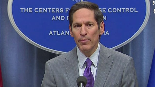 CDC Director Dr. Tomas Frieden notes that only a person showing symptoms can spread the disease.