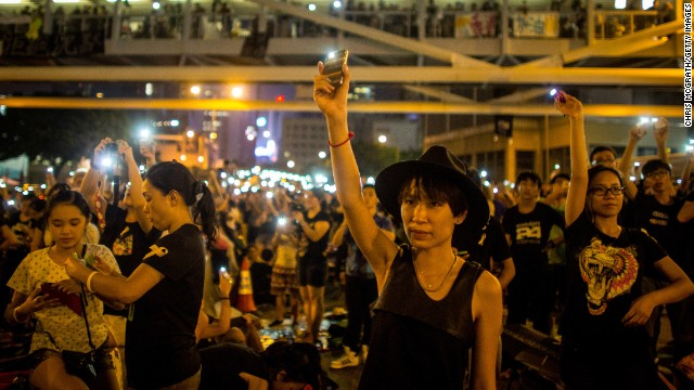 Hong Kong protestors hacked through app