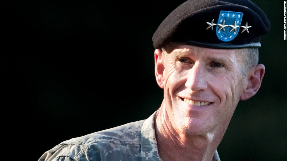 In June 2010, Obama relieved Gen. Stanley McChrystal from his post as commander of U.S. forces in Afghanistan after disparaging comments McChrystal made against the administration in Rolling Stone magazine.