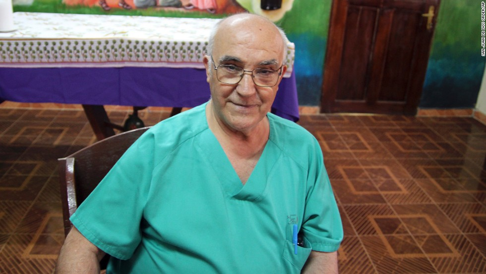 Spanish priest Manuel Garcia Viejo was diagnosed with Ebola while working in Sierra Leone. He was flown back to Spain for treatment before he died. A nurse's assistant who treated him in Spain is believed to have contracted the virus as well.