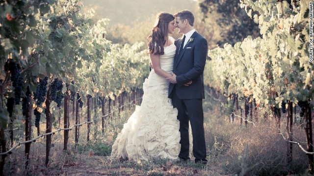 Brittany Maynard and Dan Diaz on their wedding day. She had been married a little more than a year when she was diagnosed with brain cancer.