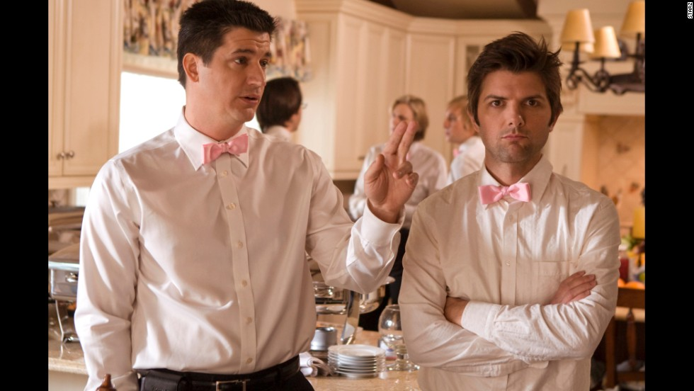 "The cast members of ""Party Down,"" including Ken Marino, left, and Adam Scott, have been hard at work on their respective film and TV projects since the Starz series was canceled in 2010. Despite low ratings, the comedy received rave reviews."