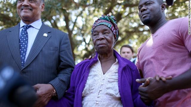 Jackson meets Ebola patient's family