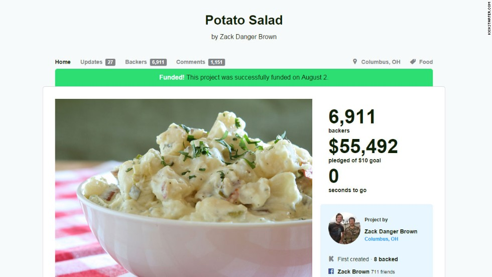 have the capacity to go viral -- just look at the potato salad ...