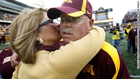 Coach Kill thanked his wife of three decades, Rebecca, for standing by his side.