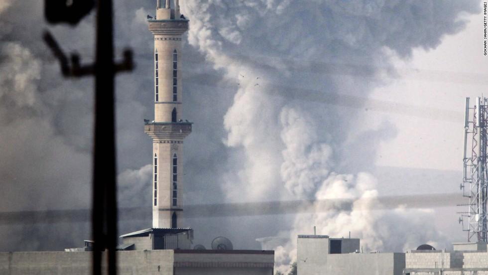 Airstrikes slow ISIS' Kobani advance