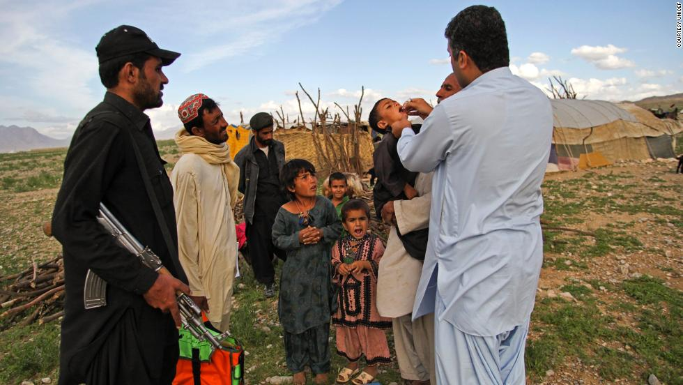 Vaccination programs mean polio is on the verge of extinction -- but there are still cases in Afghanistan and Pakistan.