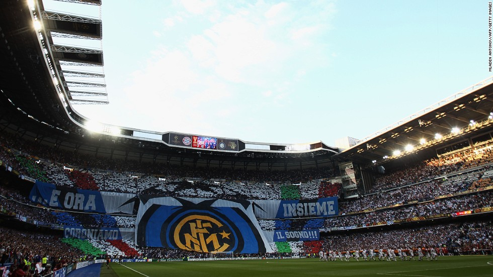 Inter fans ahead of the final.