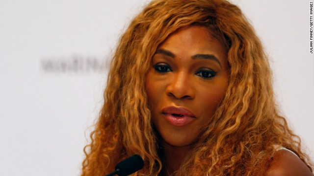 Serena Williams voiced her displeasure with Shamil Tarpischev's remarks in a media conference in Singapore.