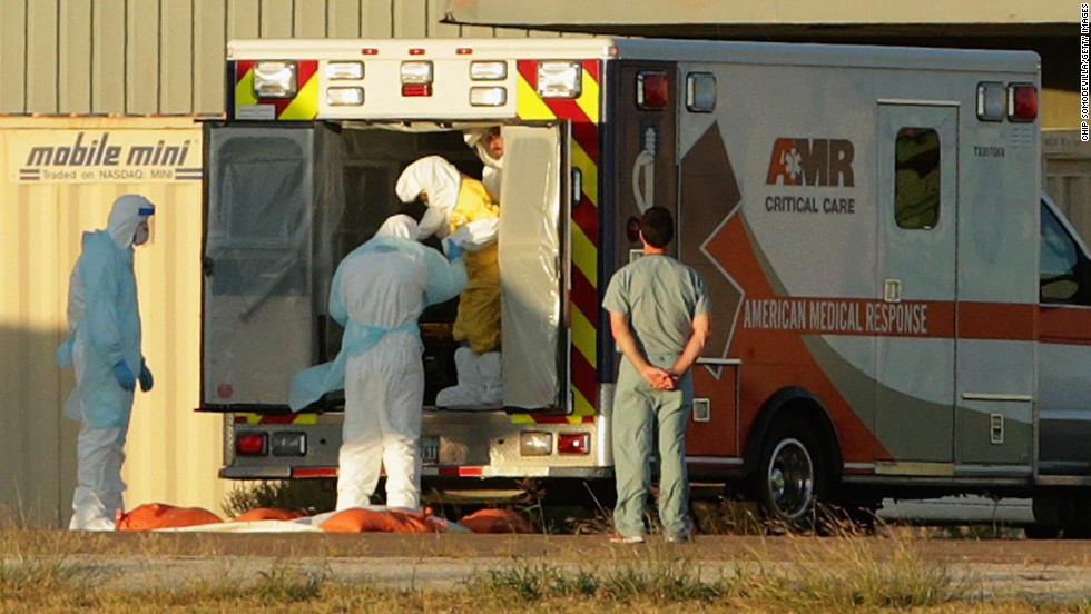 "In October, Texas nurse Nina Pham is helped out of the back of an ambulance. She contracted Ebola treating <a href=""http://www.cnn.com/2014/10/09/health/ebola-duncan-death-cause/"">Thomas Eric Duncan</a>. Duncan, a Liberian and the first patient diagnosed with the virus in the United States, died October 8. This case showed the United States how limited its security and its infection-control plan was."
