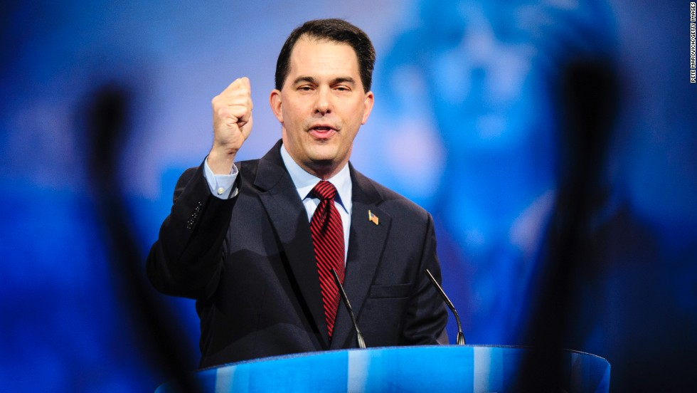 Walker speaks at the Conservative Political Action Conference in March 2013. The Republican survived a recall election in 2012.