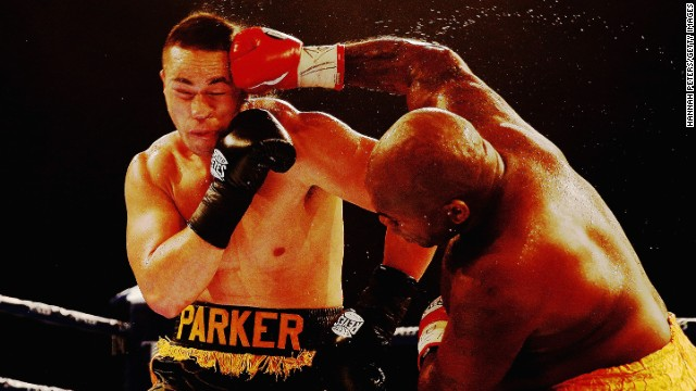 Joseph Parker fights Sherman Williams during the Heavyweight title bout between Joseph Parker and Sherman Williams at Trusts Stadium on October 16, 2014 in Auckland, New Zealand.