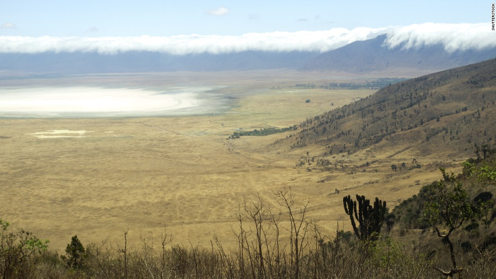 The Ngorongoro Crater, a UNESCO World Heritage Site, is the world's largest unbroken caldera.