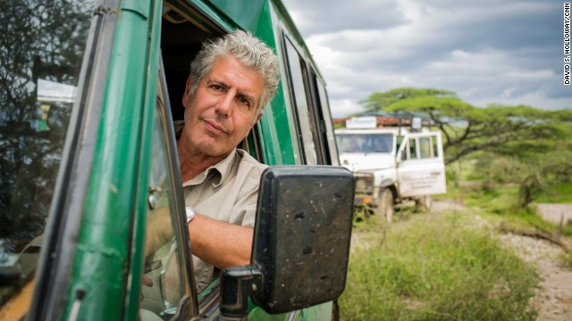 Anthony Bourdain visits theSerengehti Plain in Tanzania on March 19, 2014.