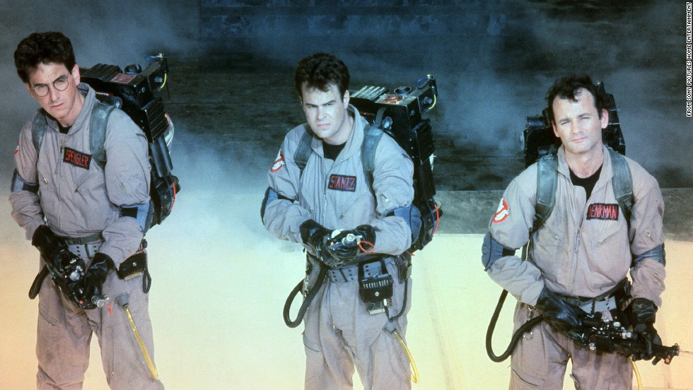 "At the time it was released, 1984's ""Ghostbusters"" was the highest-grossing comedy in history -- and, adjusted for inflation, it still is. Murray, right, with Ramis and Dan Aykroyd, center, took a role originally intended for John Belushi and made it his own."