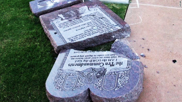 Cops: Man smashed Ten Commandments