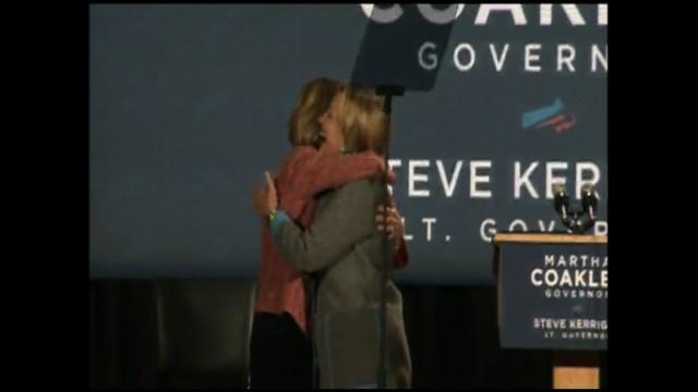 Clinton campaigns for Coakley