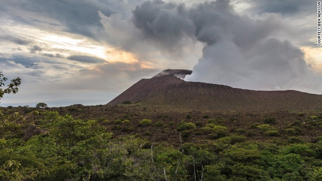 Telica Volcano is one of many active volcanoes in Nicaragua's section of the ring of fire.  It is a short, but rough drive, from Leon making it one of the easiest accessible and safest places to view lava in the country.