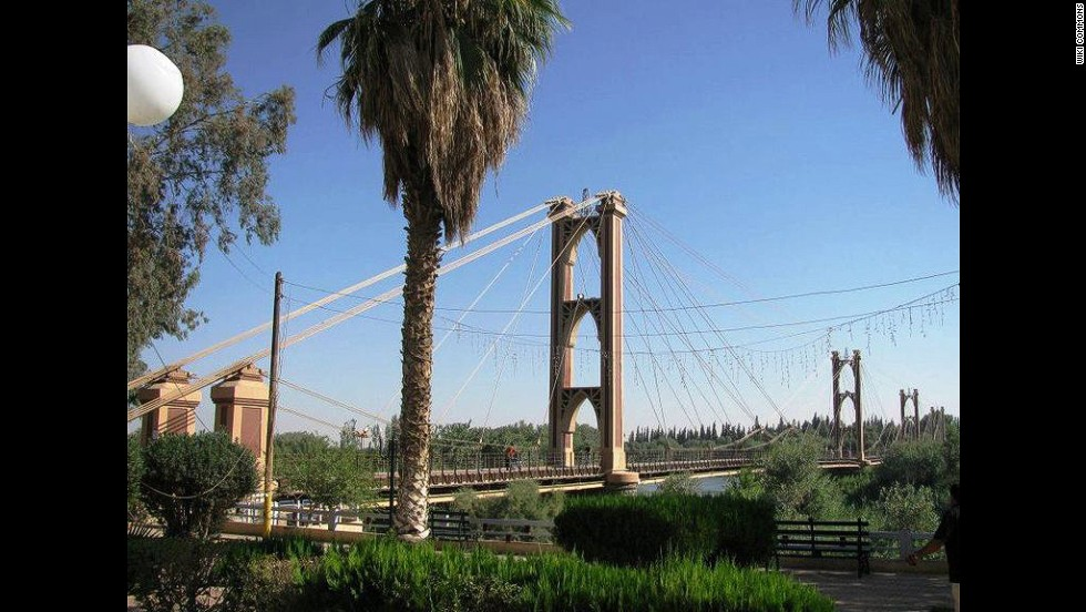 "This French-built suspension bridge was a popular pedestrian crossing and vantage point for its views of the Euphrates River. It became a key supply line in a battle for the city, and <a href=""http://www.syriadeeply.org/articles/2013/11/2595/crossing-bridge-death-deir-ezzor/"" target=""_blank""><strong>collapsed under shelling</strong>.</a> Deir Ez-zor's Siyasiyeh Bridge was also destroyed."