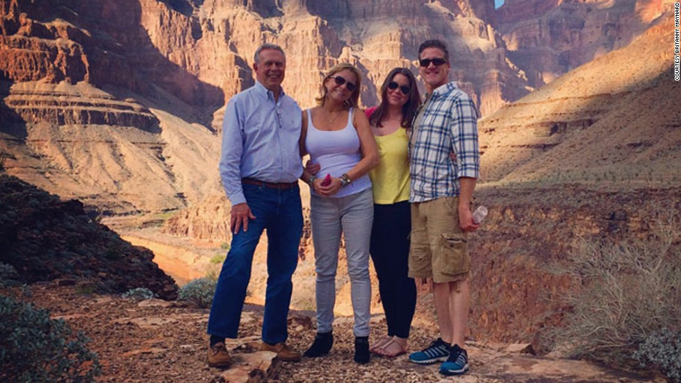 Maynard, second from right, visits the Grand Canyon with her family in October. She had said the Grand Canyon was the last item on her bucket list.