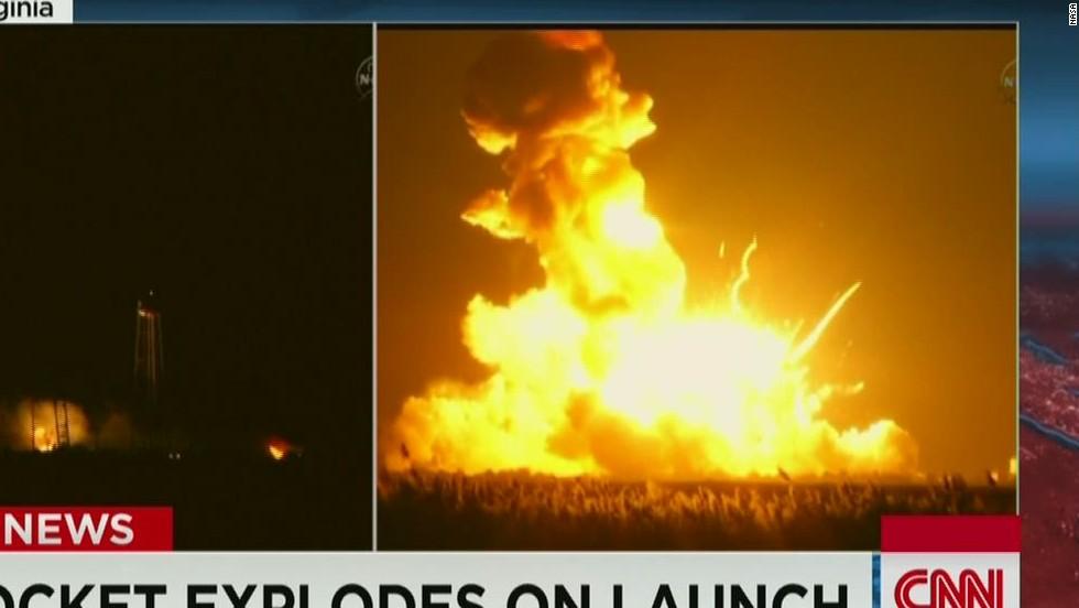 NASA rocket explodes on launch