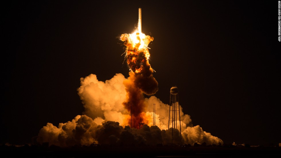 NASA shares new photos of Antares rocket explosion during Wallops ...