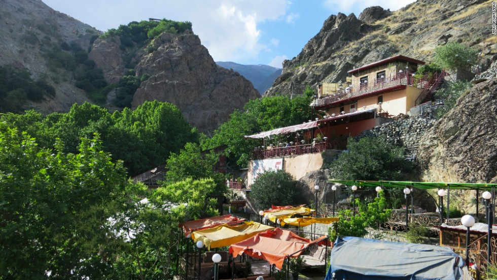 A series of beautiful restaurants is tucked up into the hillside of Darband, a mountainous neighborhood inside Tehran's city limits.