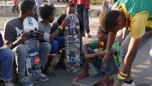 Skateboarding in Ethiopia