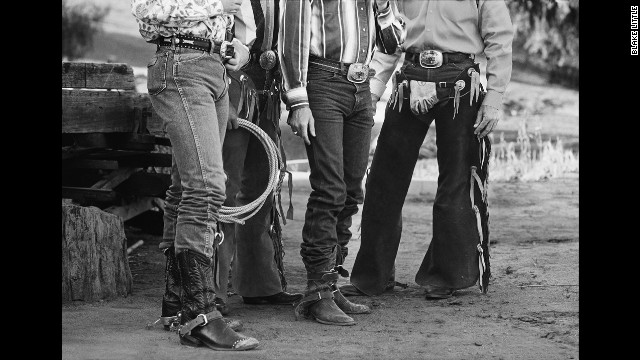 These Los Angeles cowboys knew how to dress and some took it very seriously. Some of the cowboys brought 6 pairs of jeans in different colors plus matching shirts for a 2 day rodeo .