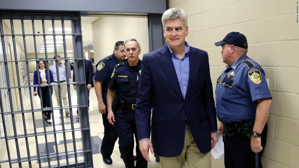 Cassidy tours the Livingston Parish Detention Center during a campaign stop in Livingston Parish on Monday, November 3. Cassidy currently represents Louisiana's 6th Congressional District.