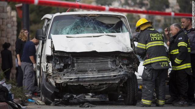 Vans used in Jerusalem 'terror' attacks