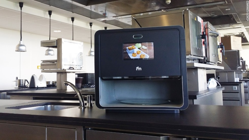 "Where regular 3D printers print with plastics, the ""Foodini"" uses real food ingredients to create edible products."