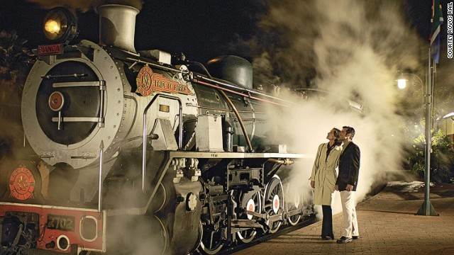 The Rovos Rail steam train, the Pride of Africa.