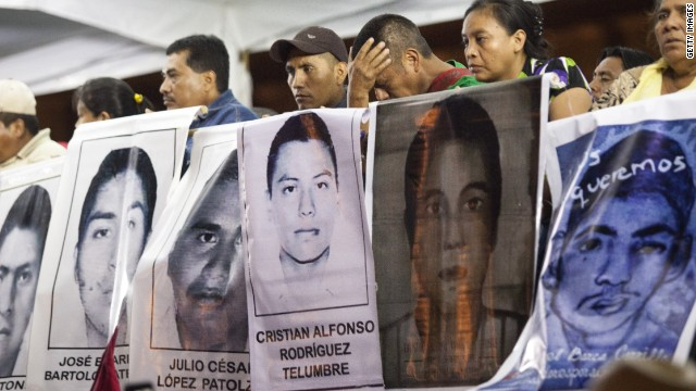 Protests in Mexico over missing students