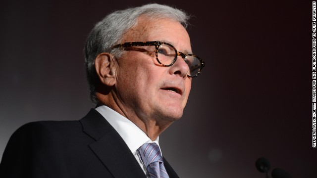 Journalist Tom Brokaw speaks at the 29th Annual Great Sports Legends Dinner to benefit The Buoniconti Fund to Cure Paralysis at The Waldorf Astoria on September 29, 2014 in New York City.