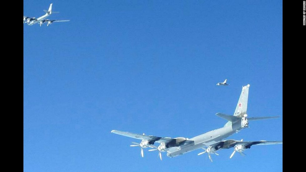 Fighter jets from the Netherlands intercepted two Russian bombers in Dutch airspace in April 2014.