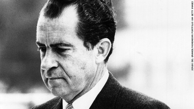 Portrait of the U.S. President Richard Nixon. 1970s (Photo by Sergio Del Grande/Mondadori Portfolio via Getty Images)