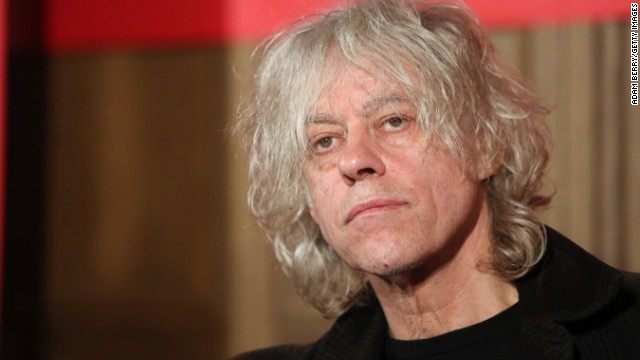 : Irish Singer Bob Geldof attends a press conference about the German version of a 30th anniversary edition of the 80s poverty benefit project Band Aid, known for the song 'Do They Know It's Christmas,' at Soho House on November 13, 2014 in Berlin, Germany.