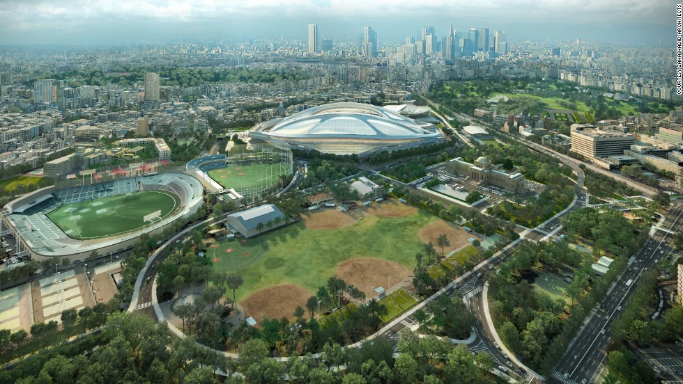 """""""While the New National Stadium in Tokyo will be used for the 2020 Olympic Games, the stadium is being built to host the widest variety of events in the future. Its first major international event will actually be as a venue for Japan's hosting of the 2019 Rugby World Cup -- the first country in Asia to host the event,"""" said Jim Heverin, director at Zaha Hadid Architects which designed the arena. """"The key to a successful stadium is to design for these long term requirements, rather than the one-off event such as the Olympics."""""""