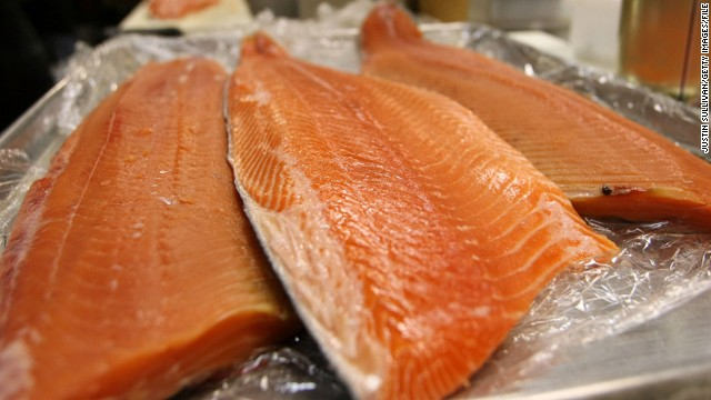 Salmon filets Fresh farmed at Loch Duart