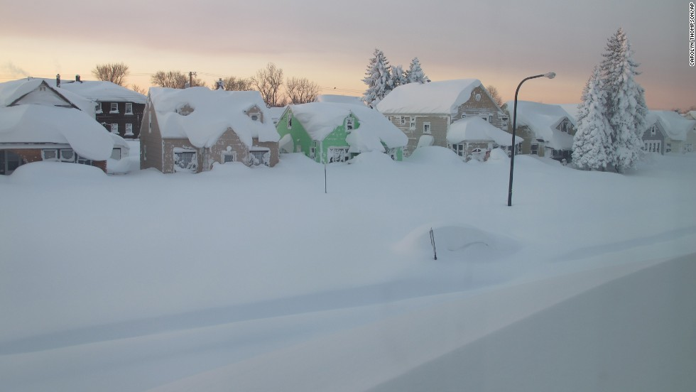 Snow covers a street in Buffalo on Wednesday, November 19.