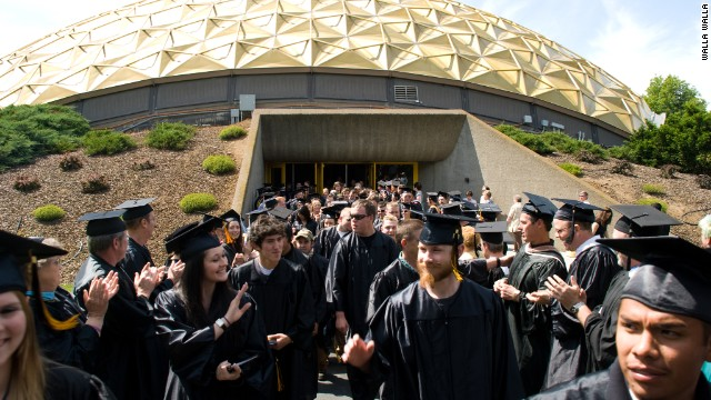Graduates from a community college.