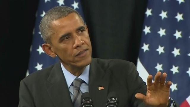 Obama responds to heckler during speech