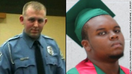 Officer Darren Wilson, left, and Michael Brown