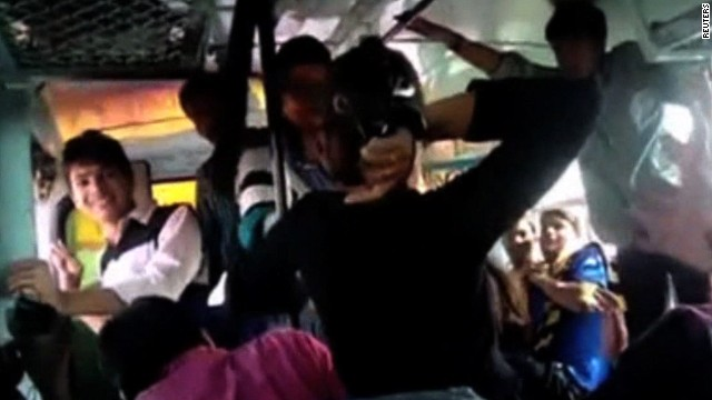 See sisters fight harassers on bus
