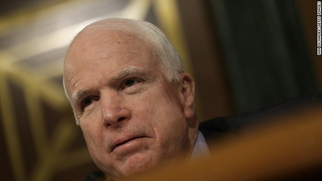 WASHINGTON, DC - NOVEMBER 20: Sen. John McCain (R-AZ) questions a witness during a hearing of the Permanent Subcommittee on Investigations of the Senate Homeland Security and Governmental Affairs Committee November 20, 2014 in Washington, DC. The committee heard testimony on the topic of 'Wall Street Bank Involvement With Physical Commodities.' (Photo by Win McNamee/Getty Images)