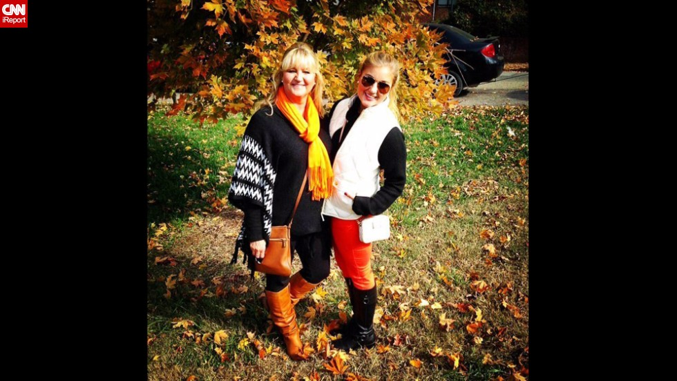 """It's not only students who take game day attire seriously: Parents get in on the fun, too! Here, <a href=""""http://ireport.cnn.com/docs/DOC-1191100"""">Carly Young</a>, right, and her mother show their spirit for the University of Tennessee in Knoxville. Young, a senior, says she has one pet peeve about the outfits she sees in Vols territory -- when ladies try to pass off pink as orange. Horrors!"""