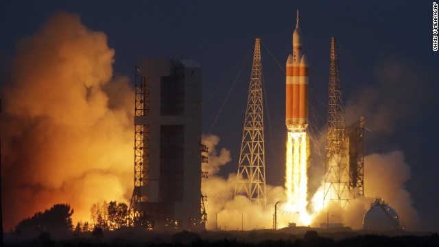 Watch Orion spacecraft blast into space