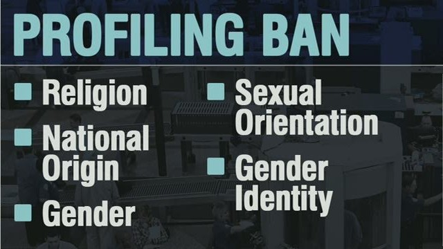 Profiling ban doesn't apply at borders